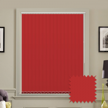 "Made to Measure Blackout 5"" Unishade Red Vertical Blind"